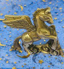 Vintage Miniature Brass Pegasus Winged Flying Horse