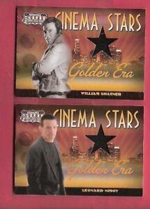STAR TREK CAPTAIN KIRK WILLIAM SHATNER SPOCK LEONARD NIMOY WORN RELIC CARDS #d50