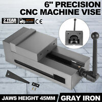 6'' Precision Bench CNC Clamping Vise Fixed Jaw Stable Chiseling Cast Iron