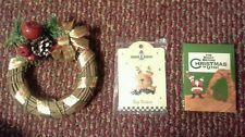 Christmas mini wreath,  Reindeer pin, Night Before Christmas in Utah mini-Book