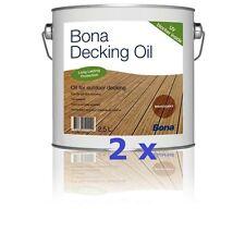 BONA Decking Oil - Teak - 2 x 2,5 L * Außenbereich * Powierzchnie na zewnątrz