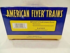 American Flyer 6-41023 G. Fox Boxcar New in the Original Box (NETCA)