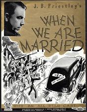 WHEN WE ARE MARRIED 1943 Sydney Howard Raymond Huntley J.B.Priestley TRADE AD