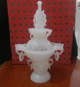 100% Natural  White  Jade incense burner  Home Decoration Sculpture BS071