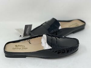 NEW! Spring Step Women's Loafelly Slip On Comfort Loafers Black W53 tz