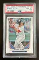 2014 MOOKIE BETTS ROOKIE CARD - BOWMAN PROSPECTS - LA DODGERS - PSA 10 GEM MT