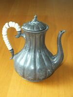 Vintage Mappin and Webb Britannia Metal coffee pot with Beaded Handle