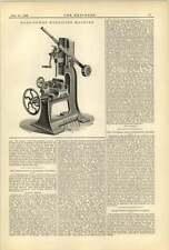 1893 Hand Power Mortar Scene Machine Wild Falcon Ironworks Oldham
