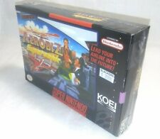 AEROBIZ SUPERSONIC Super Nintendo Entertainment System AUTHENTIC BOX (only) SNES