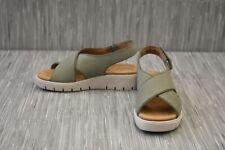 Clarks Un Karely Sun (26141451) Wedge Sandal - Women's Size 7.5M - Sage Nubuck