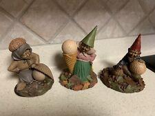 Tom Clark Gnomes Golf Themed Figurines ~Lot Of 3~Birdie, Babe, & Dinah