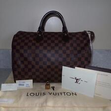 2012 RECEIPT GUC Louis Vuitton Damier Canvas Speedy 35 Handheld Bag $990+TAX