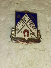 VINTAGE US Army 87th Infantry Regiment DUI CB DI Pin Badge Unit Crest