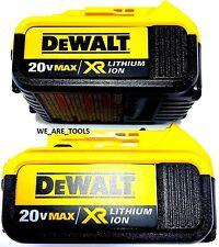 2 New GENUINE Dewalt 20V DCB204 4.0 Batteries For Drill, Saw, Grinder 20 Volt