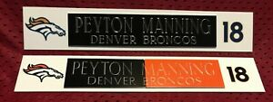 PEYTON MANNING  NAME PLATE FOR HELMET / FOOTBALL/ CARD /JERSEY / PHOTO