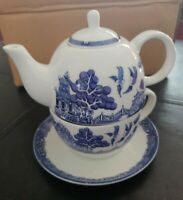Royal Cuthbertson Blue Willow Tea For One Teaset