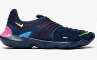 Men Nike Free RN Flyknit 3.0 Running/Athletic Shoes Navy/Volt/Blue 11 AQ5707-400