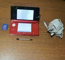 Nintendo 3DS System Metallic Red With Charger , Memory Card & Stylus Pen