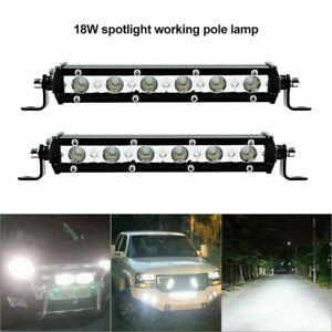 7'' 18W Spot LED Light Work Bar Lamp Driving Fog Lamps for Offroad SUV Car Truck