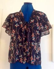 Pretty Miss Selfridge pussybow blouse size 10