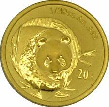 China Panda 1/20 Gold 5 Yuan oder 20 Yuan Gold
