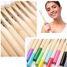 1Pc Natural Bamboo Toothbrush Eco-Friendly Product Vegan Rainbow Soft For Travel