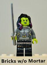 New Genuine LEGO Gamora Minifig with Silver Armor and Katana Super Heroes 76081