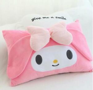 my melody bowknot pink plush single pillowcase pillow cover pillowcases sweet