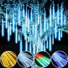 8 Röhren LED Meteorschauer Regentropfen Weihnachts Beleuchtung Außen WarmWeiß DE