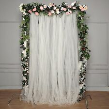 IVORY 5 ft x 10 ft Sheer Tulle Backdrop Curtain Panels Wedding Party Decorations