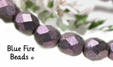 BFB-Premium Czech Glass 4mm Round Firepolish Beads  *ABALONE SHELL*  40