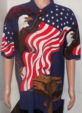America USA Dress Shirt (XL) Eagle Star Spangled Banner Flag Grain 4th of July