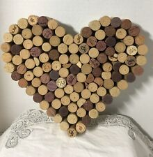 Wine Cork Heart Wedding Love Anniversary Gift Approx 12 x 11 Inches Rustic
