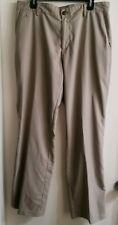 Adidas Climalite Men's Flat Front Golf Pants khaki Tan Size 34x32