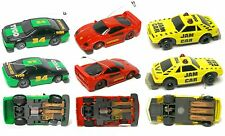 3pc 1992 TYCO TCR FORD THUNDERBIRD MUSTANG +FERRARI F40 Slot Less Car Unused A++