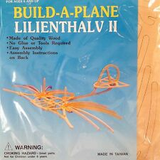 New Wooden 3D Puzzle Lilienthalv II Build-A-Plane Requires No Glue Or Tools