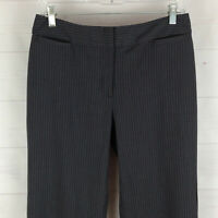 Liz Claiborne womens size 6 stretch gray pinstripe flat front mid rise pants