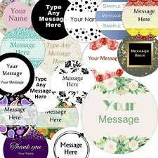 More details for 37mm round custom logo stickers, personalised  business/company name labels