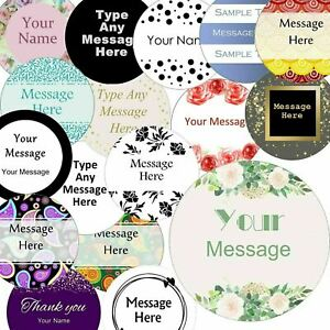 37mm Round Custom Logo Stickers, Personalised  Business/Company Name Labels