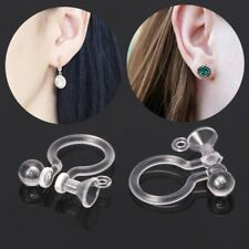50PCS Invisible Resin Earring Clips For Non Pierced Ears With Holes DIY Jewelry