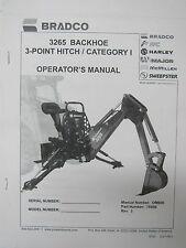 Bradco 3265 Backhoe 3 Point Hitch Category I Operator's Manual   2/06