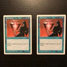 MTG Unsummon x2 5th Edition Magic the Gathering Card