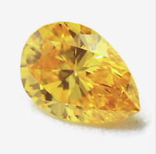 Golden Yellow Sapphire 27.60ct 15x20mm Pear Faceted Cut AAAAA VVS Loose Gemstone