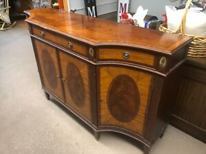 Ethan Allen Mahogany Easton Sideboard Server Buffet Console Marquetry