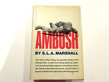 Ambush, by S.L.A. Marshall - 1969 - 1st Edition, Vintage Hardcover Book w/ DJ