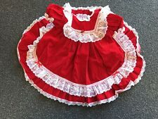 Vintage Jolene Party Twirl Lace Lacy Red Velvet Dress Usa made 2T Full Circle