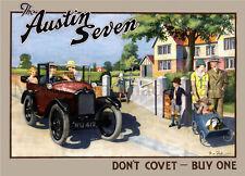 Austin Seven, British Car, UK Legend, 1930s Art Deco A3 (297mm x 420mm) Print