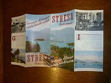 STRESA BORROMEO ALBERGO ISOLE 1939  Fascismo  brochure pubblicita illustrata