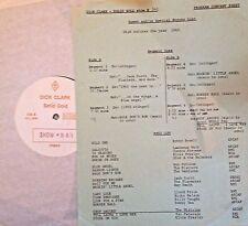 RADIO SHOW: DICK CLARK GOLD 343 1960! ROY ORBISON, ELVIS,DION, VENTURES,MIRACLES