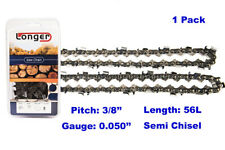 """16 Inch 3/8"""" Pitch 0.050'' Gauge Semi Chisel Chainsaw Chain 56 Links"""